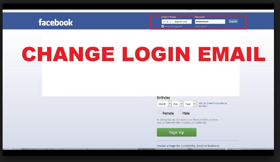 change facebook email address