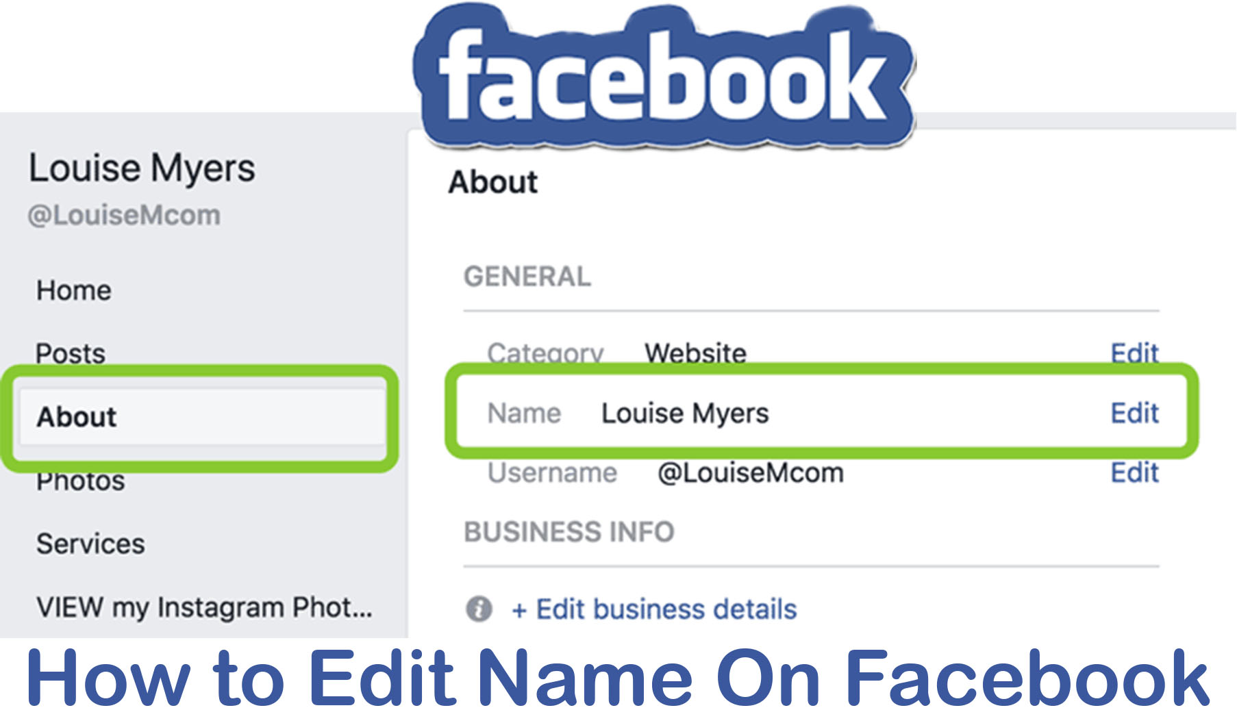 How to Edit Name On Facebook - Add Name on Facebook