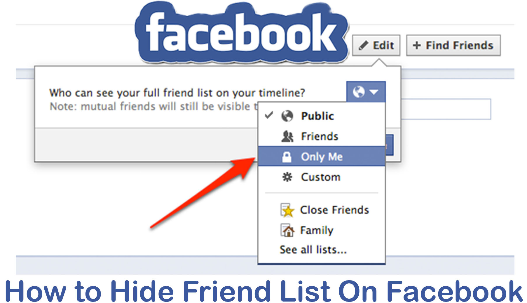 How to Hide Friend List On Facebook - My Friends List On Facebook Location