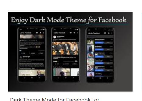 dark mode theme for facebook
