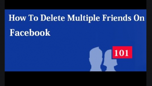 how to delete multiple friends on facebook