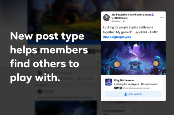 Facebook Games Launches Fan Groups Feature