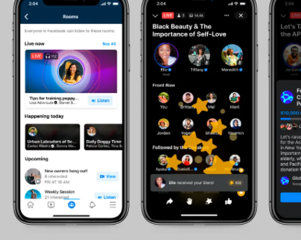 Facebook Rolls Out Its Clubhouse Competitor Feature
